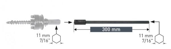 Verlängerung 300 mm für Bi-Metall-Lochsägen
