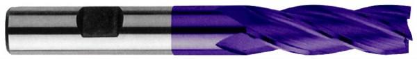 Schaftschlichtfräser 4Z mit Zentrumschnitt, HSS Co8 beschichtet