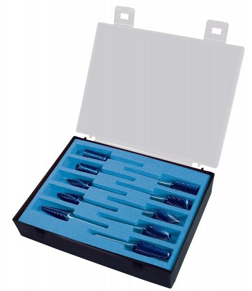 Hartmetall-Frässtift-Satz 10-tlg, Ø 10 + 12 mm, Schaft 6 mm