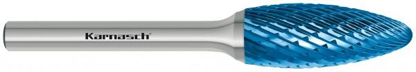 """Hartmetall-Frässtift HP-3 Form """"H"""" Flammenform"""
