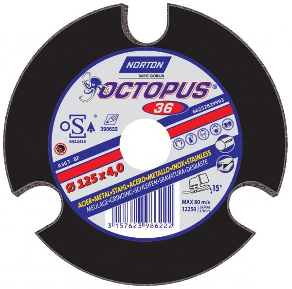 Schleifscheibe OCTOPUS für Metall/Inox
