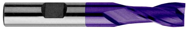 Bohrnutenfräser 2Z mit Zentrumschnitt, HSS Co8 beschichtet